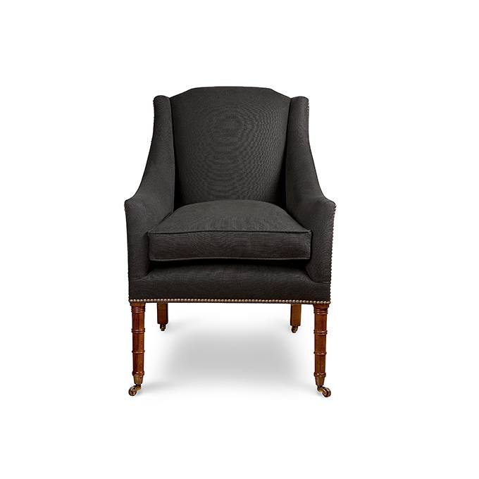 Alexandra Chair in Bantry Linen Espresso - Chairs