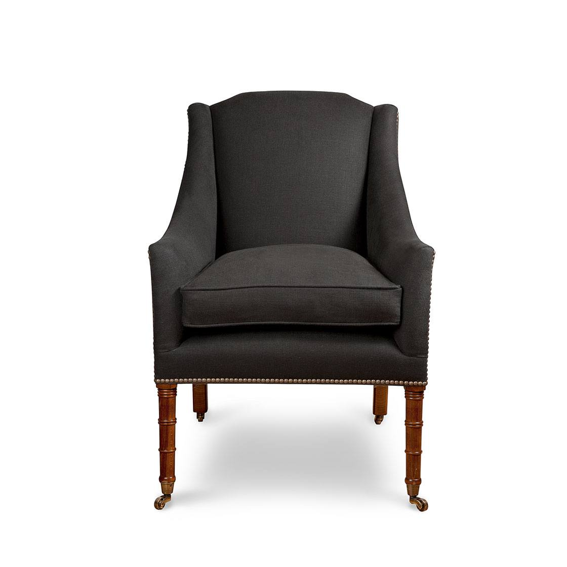 Alexandra Chair in Bantry Linen Espresso - Chairs - Beaumont & Fletcher