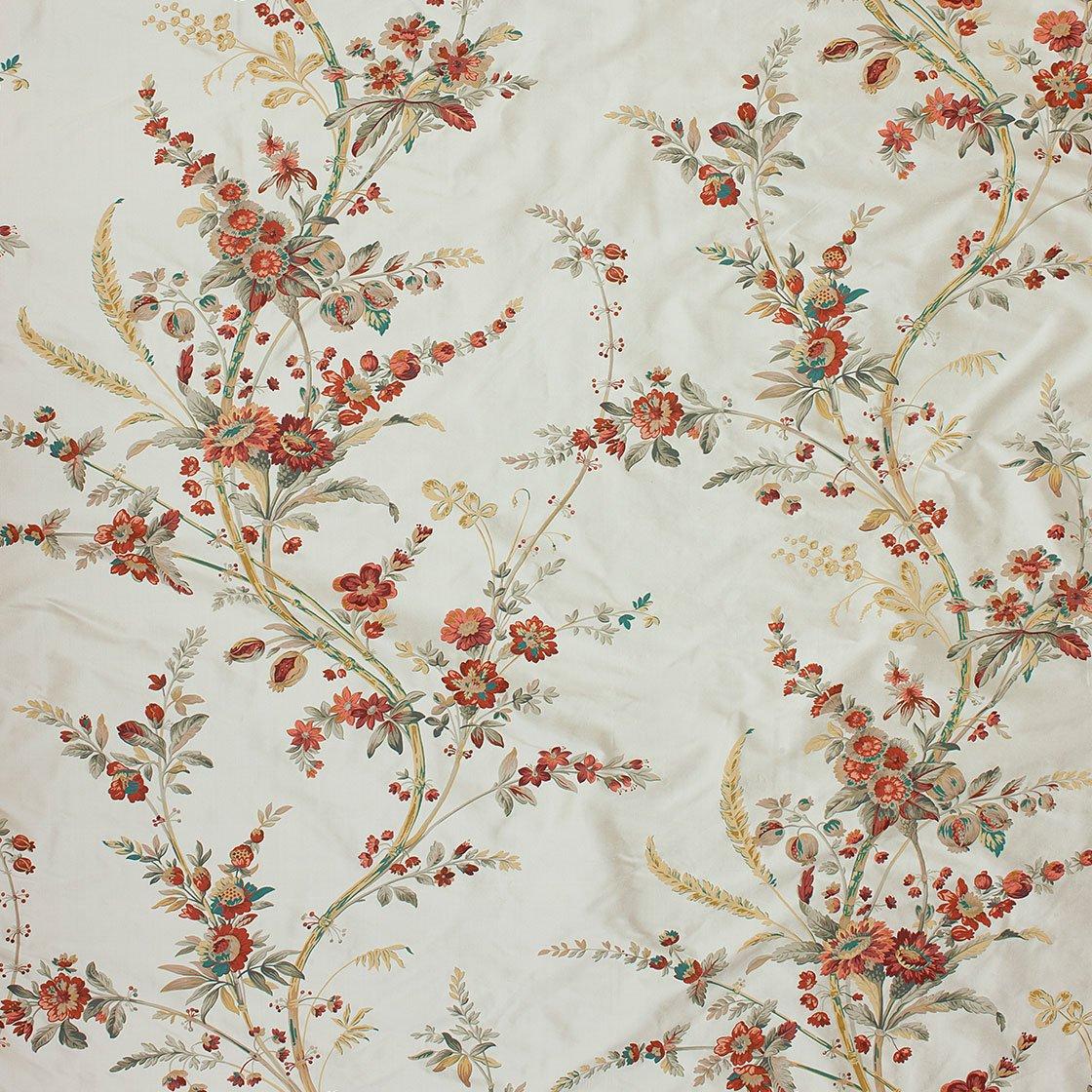 Amelia Printed Silk - Firebrick - Beaumont & Fletcher - Beaumont & Fletcher