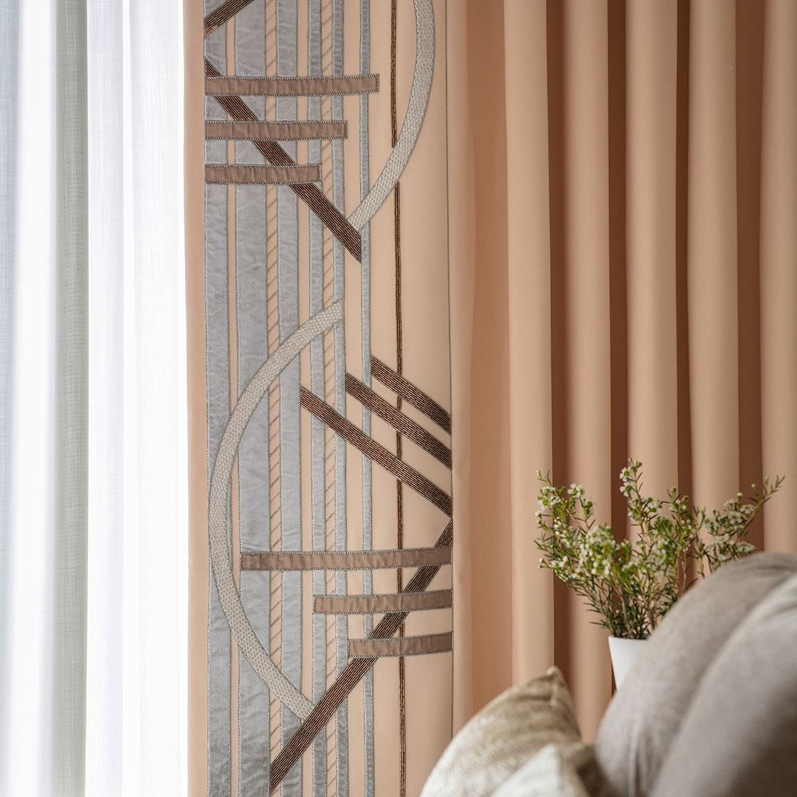 Audrey - Curtain In Eriskay Wool Shell - Beaumont & Fletcher - Beaumont & Fletcher
