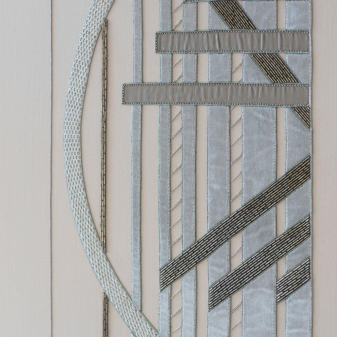 Audrey - Embroidery On Eriskay Wool - Beaumont & Fletcher - Beaumont & Fletcher