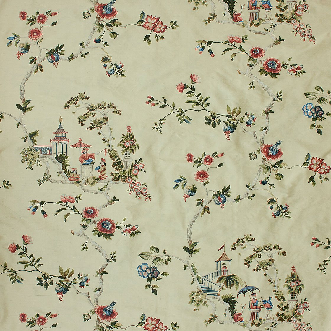 Cathay Printed Silk - Gold Garden - Beaumont & Fletcher - Beaumont & Fletcher