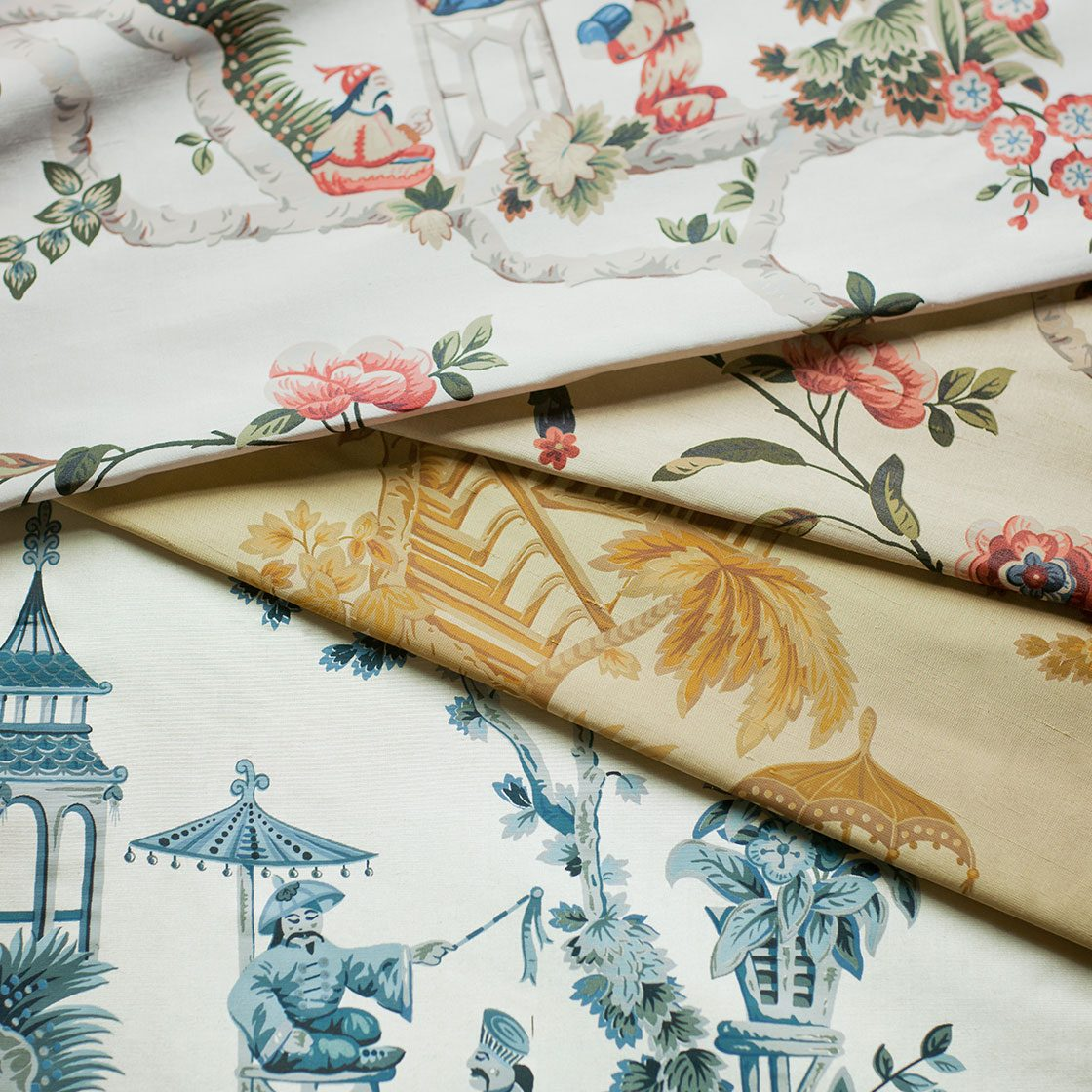 Cathay Printed Silk - Group - Beaumont & Fletcher - Beaumont & Fletcher