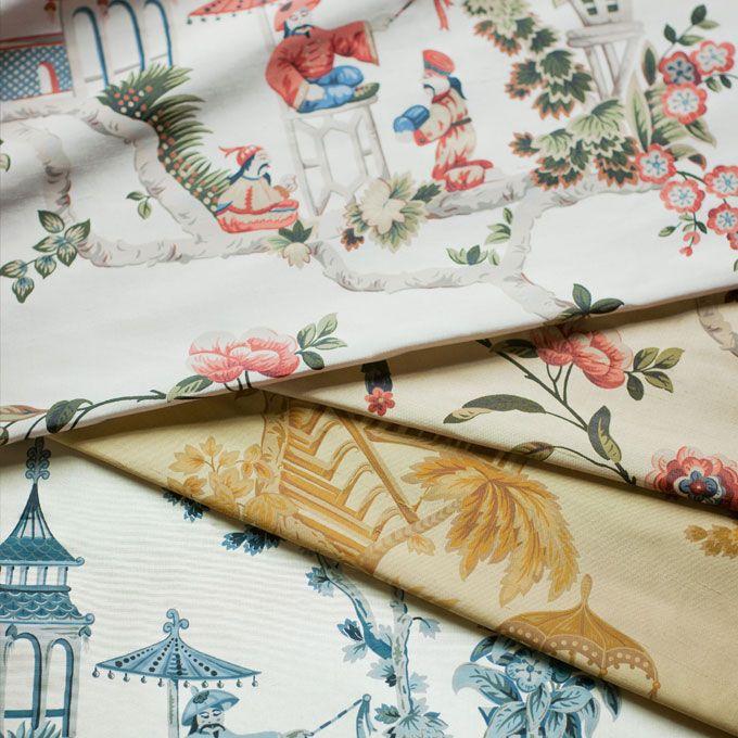 Cathay printed silk