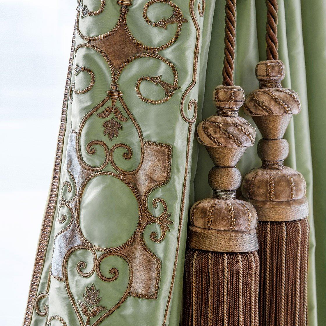 Cordoba - On Imperial Teffeta Eau De Nil And Imogen Tie Backs - Beaumont & Fletcher - Beaumont & Fletcher