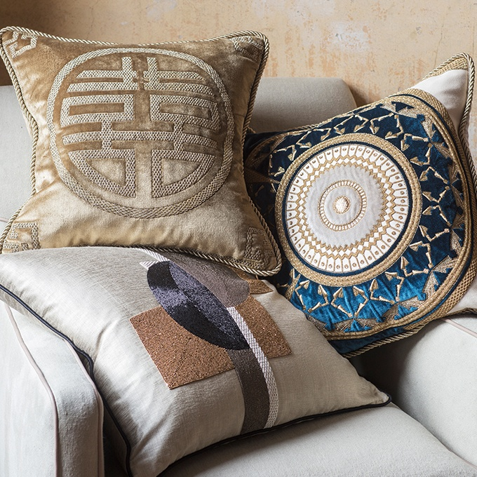 Feng Shui Cushion - Beaumont & Fletcher