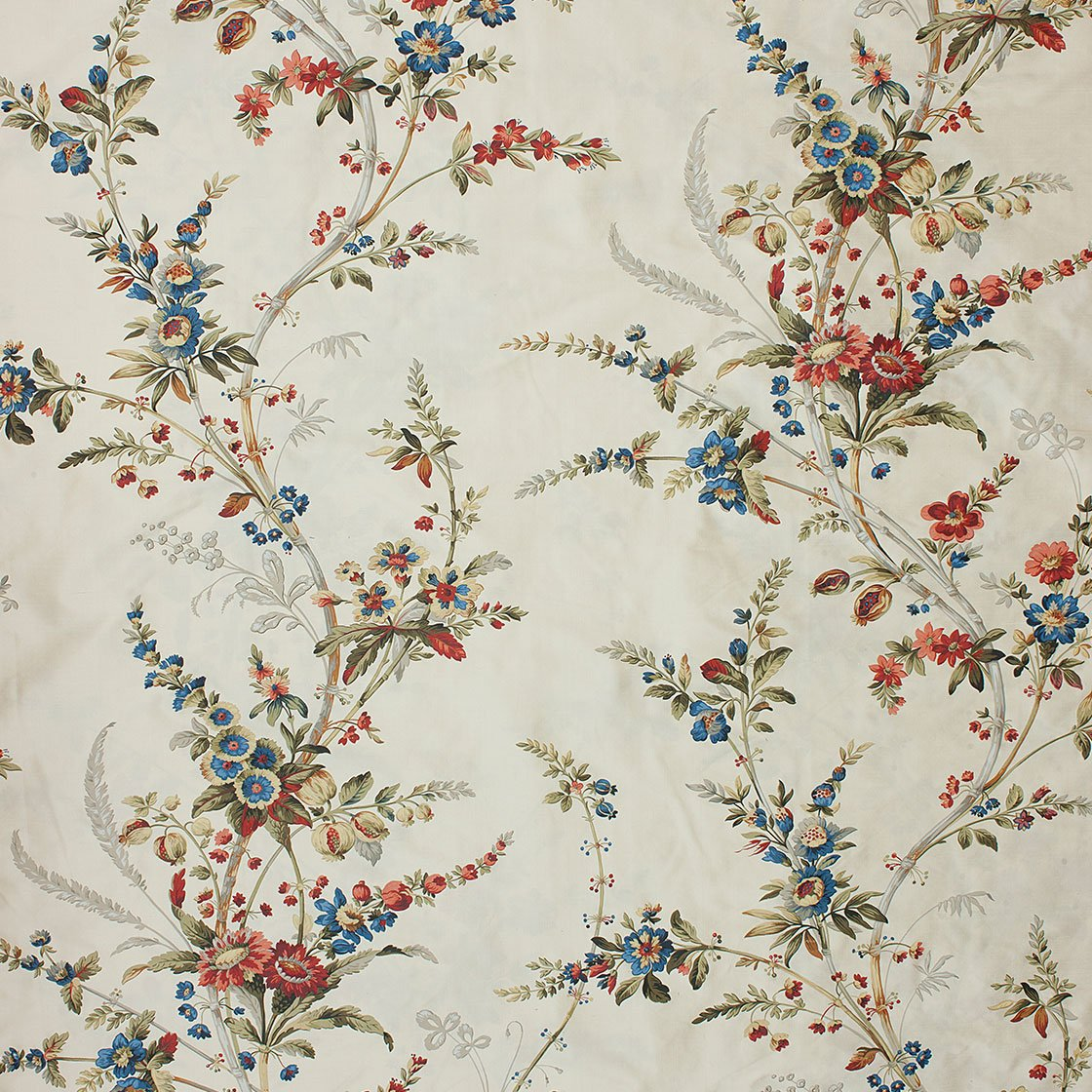 Amelia Printed Silk - Ivory Meadow - Beaumont & Fletcher - Beaumont & Fletcher