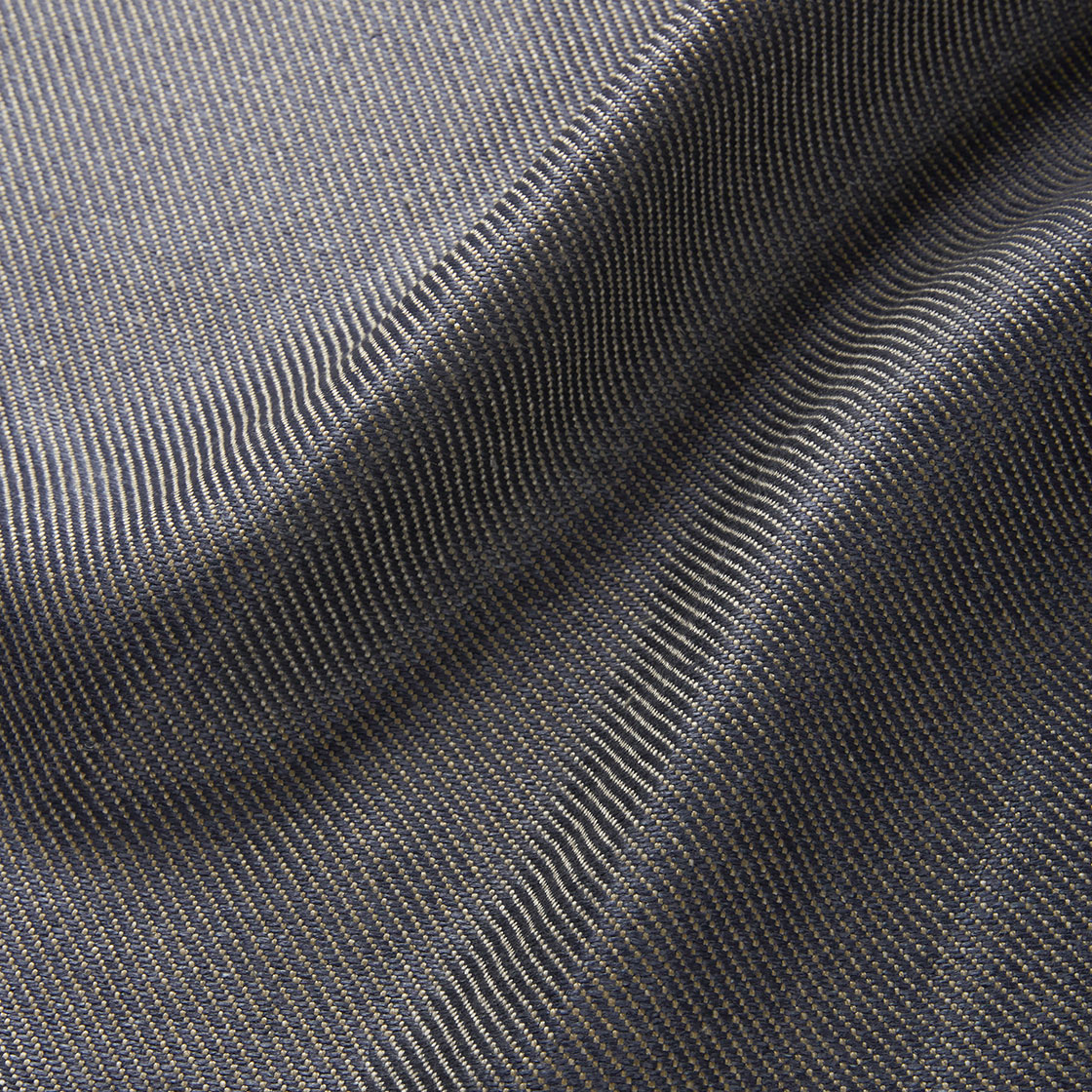 Novara Linen - Ink Blue - Beaumont & Fletcher - Beaumont & Fletcher