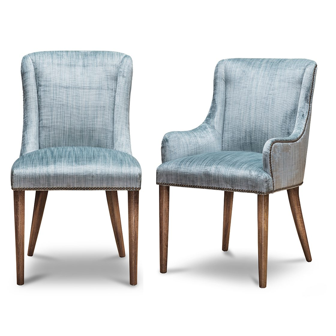 Calypso dining chairs in Como - Teal - Beaumont & Fletcher